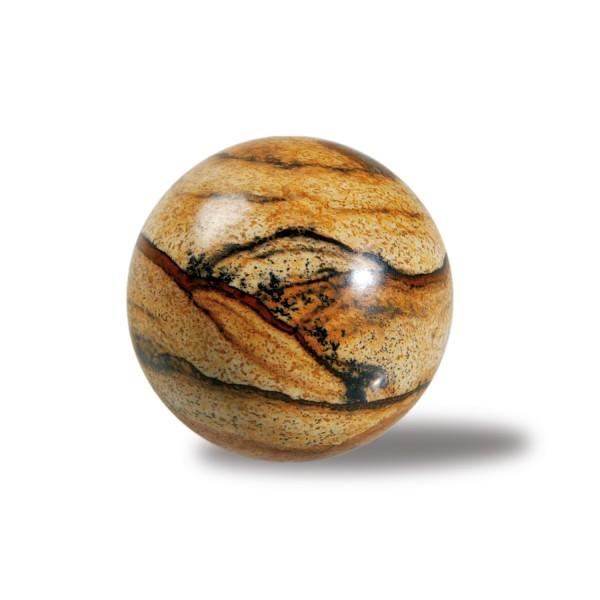 Landscape jasper stone ball