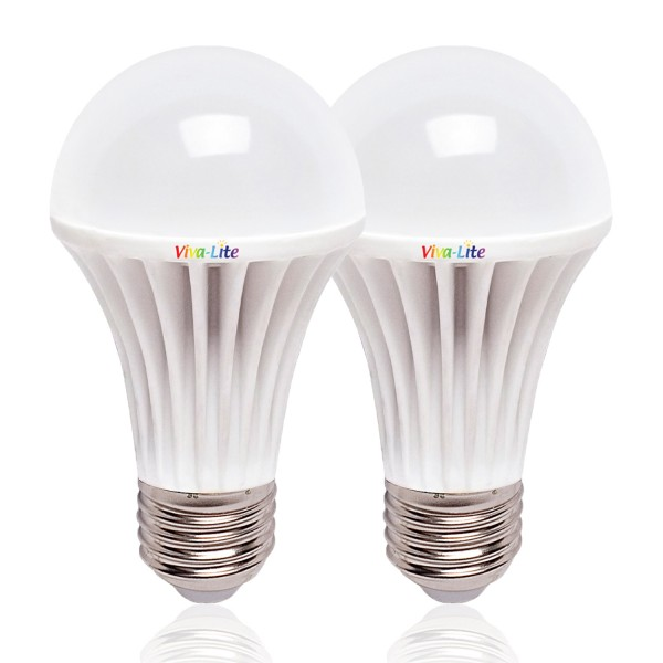 Viva-Lite® daylight LED E27 8W set of 2