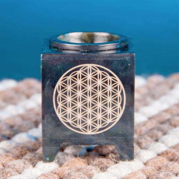 Aroma lamp - flower of life - black