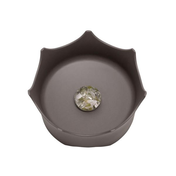 Water bowl Crown ViA - slate gray, for dogs and cats