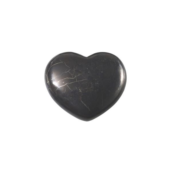 Shungite heart, large (4.5 cm)