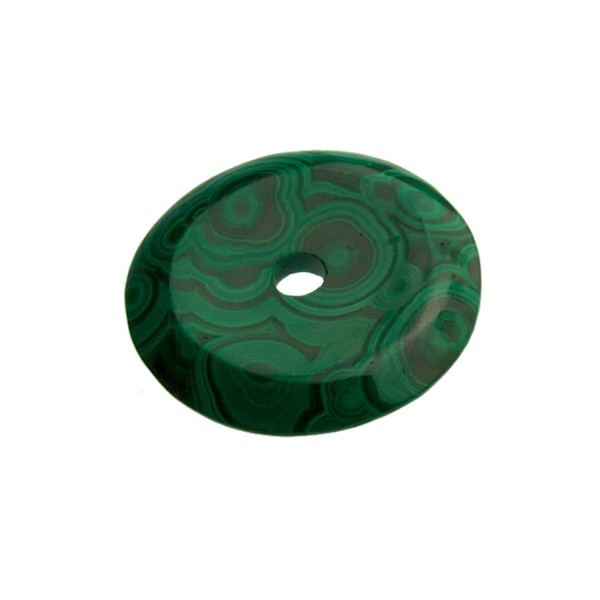 Malachite perforated disc