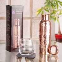 Drinking bottle made of copper, 900ml