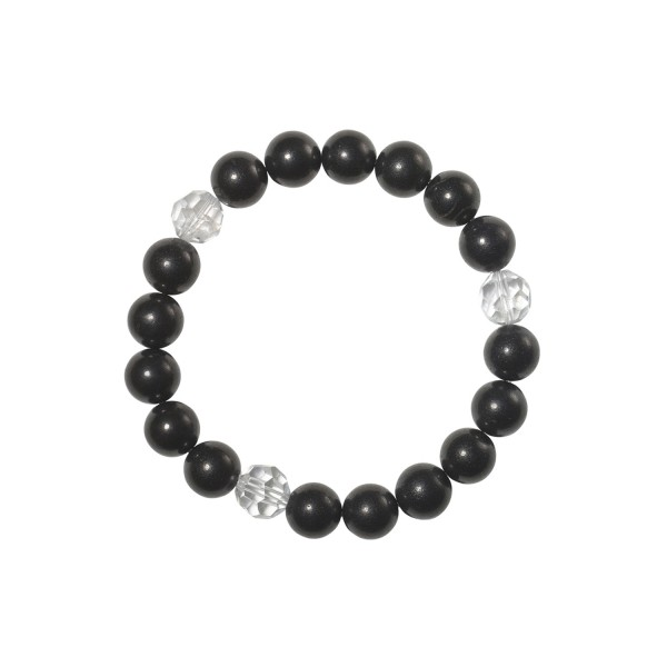 Shungite bracelet with rock crystal