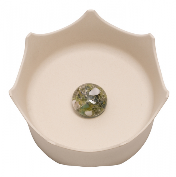 Crown ViA water bowl - natural white, for dogs and cats