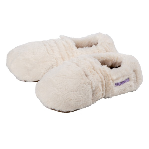 Slippies® heated slippers deluxe cream (36-40)