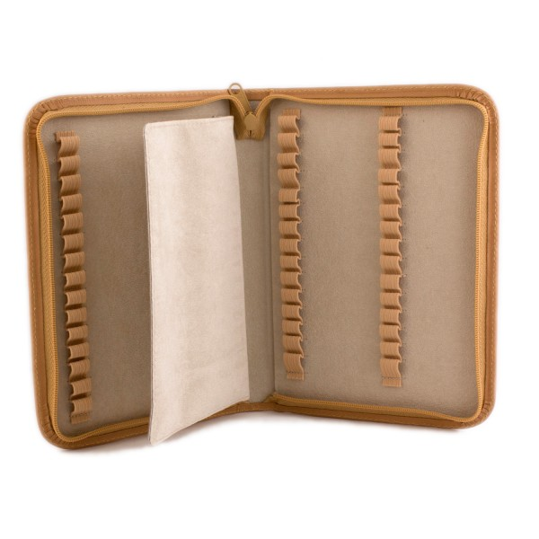 Homeopathy rugato leather case for 32 tubes