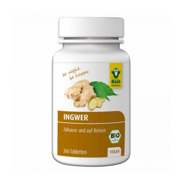 Organic ginger tablets