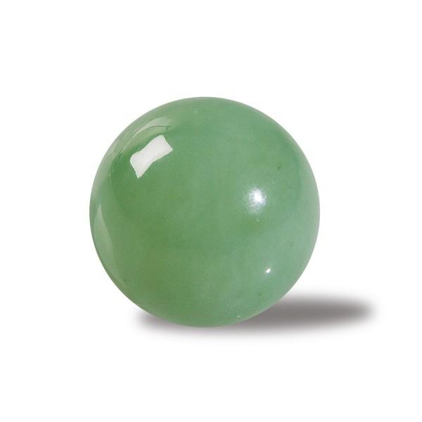 Green serpentine stone ball
