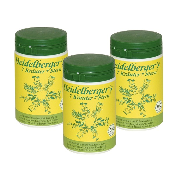 3-pack Heidelbergers 7 Herbs Star BIO